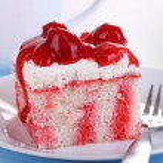 Cherry Cream Cake — Stock Photo