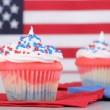 Independence Day Cupcakes — Stock Photo #42128661