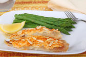 Fish Fillets and Asparagus — Stock Photo