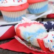 Red White and Blue Cupcakes — Stock Photo #42465319