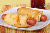 Hot Dog Roll-ups — Stock Photo