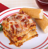 Lasagna Dinner — Stock Photo