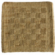 Raffia rug isolated — Stock Photo