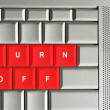 Turn off spelled on keyboard — Stock Photo