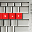 Stock Photo: DDoS spelled on keyboard