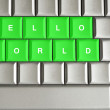 Stock Photo: Hello world spelled on keyword
