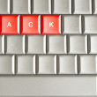 Stock Photo: Hack spelled on keyboard