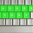 Success Story spelled on a keyboard — Stock Photo