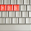Fail word spelled on a keyboard — Stock Photo