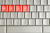 Help spelled on a keyboard — Stock Photo