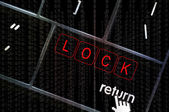 Lock concept with the focus on the return button overlaid with b — Stock Photo