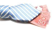 50 dólares canadienses y corbata — Foto de Stock