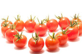Tvar srdce cherry rajčátky — Stock fotografie