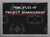 Principles of project management on blackboard — Stock Photo