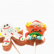Chistmas lollipop on white background — Stock Photo