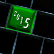 New year countdown 2015 Concept with back lit keyboard — Stock Photo