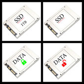 Collage SSD drives — Stock Photo