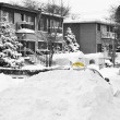 Taxi car burried under snow — Stock Photo #38059511