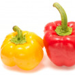 Yellow And Red Capsicums Isolated On White Background — Stock Photo #40329723