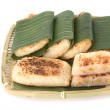 Stock Photo: Vietnamese grilled banancake covered with sweet sticky rice on