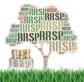 Canadian Registered Retirement Savings Plan concept word cloud — Stockfoto