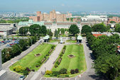 Front garden outside St. Joseph's Oratory in Montreal  — Stock Photo