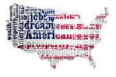 American dream concept with word cloud on white background — Stock Photo