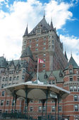 Chateau Frontenac Hotel, Quebec City, Quebec, Canada during a be — Stock Photo