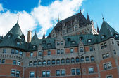 Chateau Frontenac Hotel, Quebec City, Quebec, Canada during a be — Zdjęcie stockowe