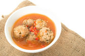 Xiu Mai,  Vietnamese spicy pork meatballs in tomato sauce — Stock Photo