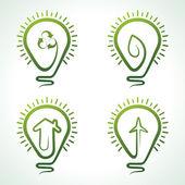 Creative symbols in bulb — Stock Vector