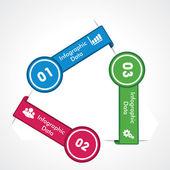 Kreativa pilen info-grafik — Stockvektor