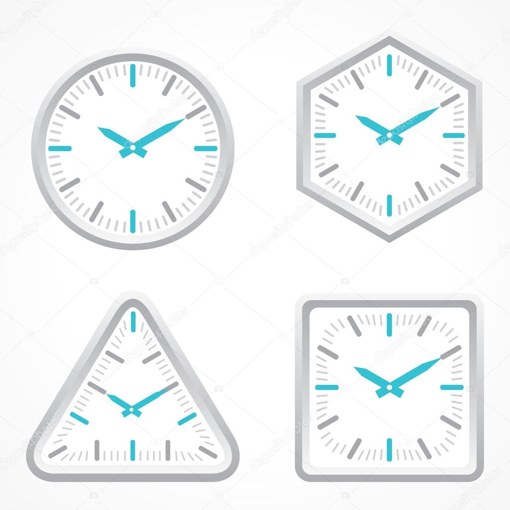 clock in different shapes stock vector graphicsdunia4u