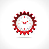 Gear clock icon — Stock Vector