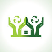 Eco friendly home — Stock Vector