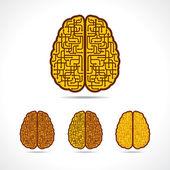 Cervello formando delle frecce — Vettoriale Stock