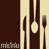 Template for menu card with cutlery — Stock Vector