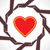 Kalp kavramı korumak — Stok Vektör