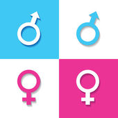 Male and female symbol — Stock Vector