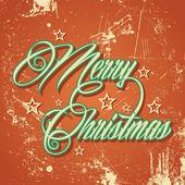 复古快乐圣诞贺卡 — 图库矢量图片