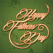 Retro Happy Father's Day greeting — Stockvektor