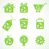 Set of eco friendly icons — Stock Vector