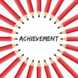 Achievement word with pencil background — Stok Vektör