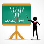 Punti di uomo al concetto di leadership — Vettoriale Stock