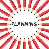 Palavra planejamento com fundo de lápis — Vetorial Stock