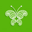 Green decorative butterfly — Stock Vector