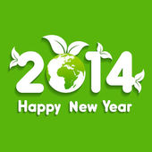 Creative new year with eco earth,2014 — Stock Vector