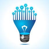 Ekologiczne światło w żarówki — Wektor stockowy