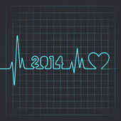 Heartbeat make 2014 — Stock Vector