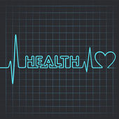 Health word and heart — Stock Vector